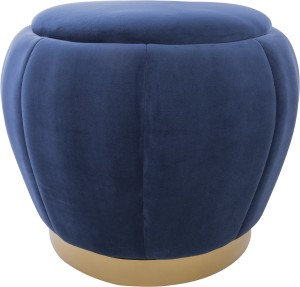 pufa velvet gold navy blue